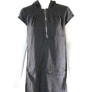 Ivy Jane Size Large Linen Black Women's Dress